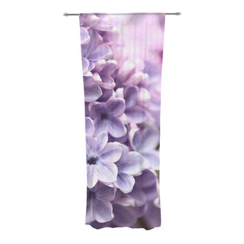 "Sylvia Cook ""Lilac"" Purple Flowers Decorative Sheer Curtain"