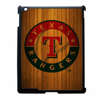 Texas Rangers Wood Pattern iPad 2 Case