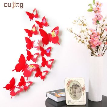 Apr 29 Mosunx Business Wall Stickers Decal Butterflies 3D Wall Art Home Decors