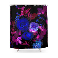 Society6 Rose Bloom Shower Curtain