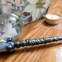 Witch Wand, Wizard Wand, Harry Potter, Wooden Wand, Crystal Wand, Kids wand, Dungeons and Dragons, Cosplay wand, Magic wand, Black wand