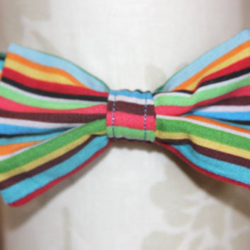 Rainbow Stripe Adjustable Bowtie (Baby / Infant / Toddler Boy)