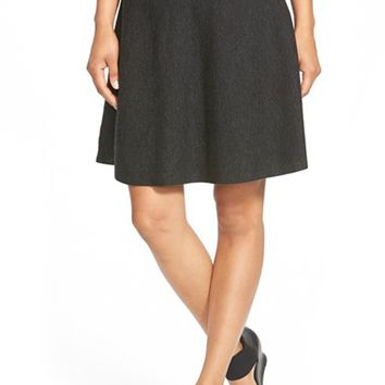 Women's Eileen Fisher Merino Knit A-Line Skirt,