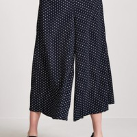 Polka Dot Wide-Leg Pants