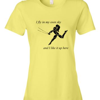 """My Own Sky"" Arch Back Ladies Fitted T"