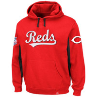 Majestic Cincinnati Reds Major Play Pullover Hoodie - Red
