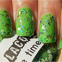 Slime Time:  Custom-Blended Glitter Nail Polish / Lacquer