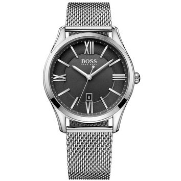 Hugo Boss Hugo Boss 1513442 Black / Silver Stainless Steel Analog Quartz Men's Watch