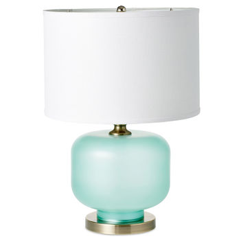 Adele Frosted Seaglass Table Lamp, Aqua, Table Lamps