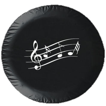 Music Measure Tire Cover