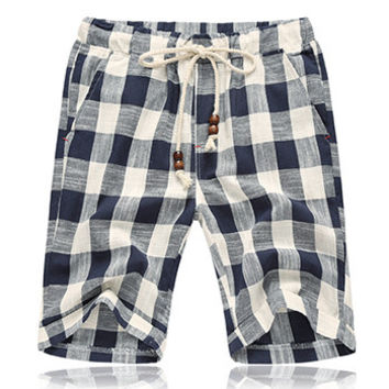 Checkered/Floral Summer Shorts
