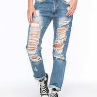 MACHINE Destroyed Womens Boyfriend Jeans | Boyfriend