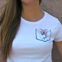 Koala Pocket Tee by BeesPocketTees on Etsy