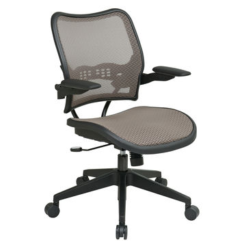 Office Star Deluxe Latte AirGrid® Seat and Back Chair with Cantilever Arms [13-88N1P3]