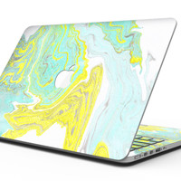 Mixtured Yellow and Green Textured Marble - MacBook Pro with Retina Display Full-Coverage Skin Kit