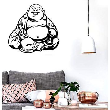 Large Wall Stickers Vinyl Decal Smiling Chinese God Good Luck Symbol Funny Unique Gift (z2015)