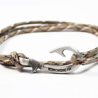 Desert Camo Fish Hook Bracelet (New)