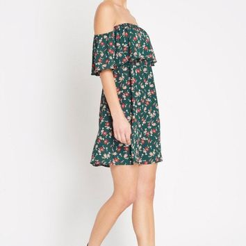Elodi Off the Shoulder Swing Dress
