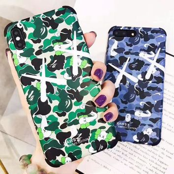Bape Aape New fashion camouflage couple protective cover phone case