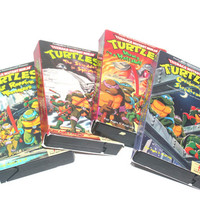1985-88 VHS Teenage Mutant Ninja Turtles Shows, Lot of 4, Antique Alchemy