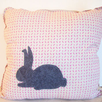 Rabbit Pillow- Decorative Pillow- Throw Pillow