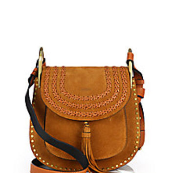Chloé - Hudson Small Studded & Braided Suede Shoulder Bag - Saks Fifth Avenue Mobile