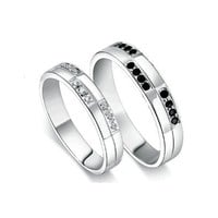Couple Rings - Valentines, Engagement and Wedding Promise Rings Set Gift Ideas - Gullei - -