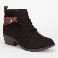 Soda Dante 2 Tone Bootie Black Combo  In Sizes
