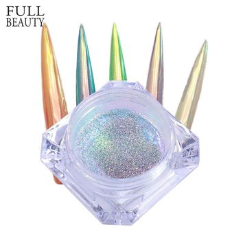 Full Beauty 0.15g Neon Unicorn Crystal Nail Glitter Pigment Super Shine Mirror Sequins Nail Art Holographic Chrome Dust CH354