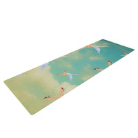 "Natt ""Swan"" Teal Yellow Yoga Mat"