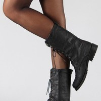 Lug-11 Military Lace Up Mid-Calf Boot