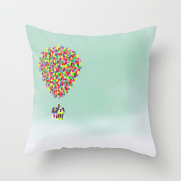 Disney Pixar Up Throw Pillow by Derek Temple | Society6