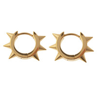 Maria Francesca Pepe Spike Hoop Earrings - Gold Hoops - ShopBAZAAR