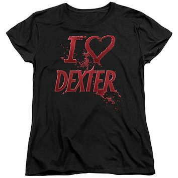 Dexter - I Heart Dexter Short Sleeve Women's Tee