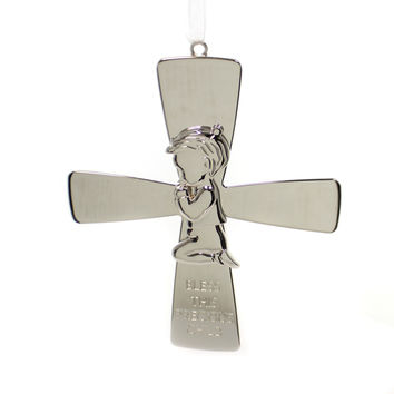 Religious Boy Cross Sign / Plaque
