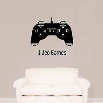 Wall Stickers Vinyl Decal Joystick Controller Video Games XBox Unique Gift (z1713)