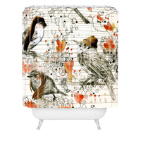 Randi Antonsen Love Birds Shower Curtain