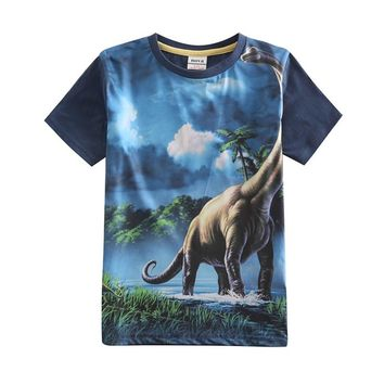 boys t shirts children clothing fashion brand novatx kids baby boy clothes printed 3D dinosaur summer shirts for boys C5049