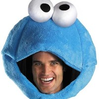 Disguise Women's Sesame Street Cookie Monster Adult Headpiece, Blue, One Size
