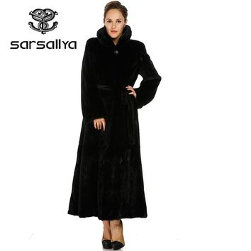 SARSALLYA 2016 new  mink coats women natural fur coats woman's winter jackets  Free shipping real fur jacket 2016F0585B