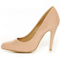 GoMax Ashland 01Y Peach Patent Pumps