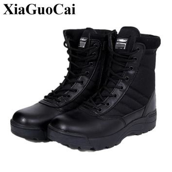 Men Military Leather Boots Special Forces Tactical Desert Combat Boats Outdoor Shoes Snow Boots