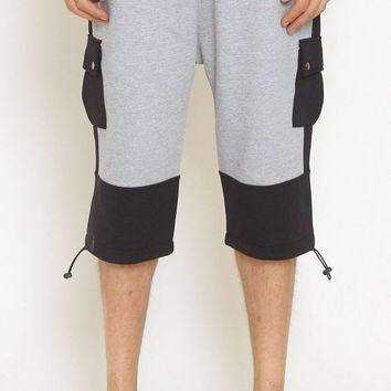 Unknown Heather Gray French Terry Neoprene Shorts - Only One Left!