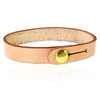 Leather Band Bracelet | Natural