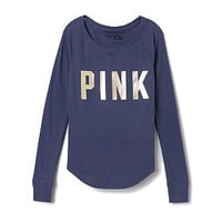 Thermal Sleep Henley - PINK - Victoria's Secret