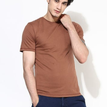 Slim Fit Pocket T-Shirt: Copper