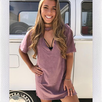 MAZO CUT OUT FRONT TEE-PINK
