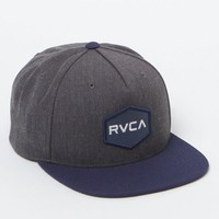 RVCA Commonwealth Snapback Hat - Mens Backpack - Blue/Grey - One