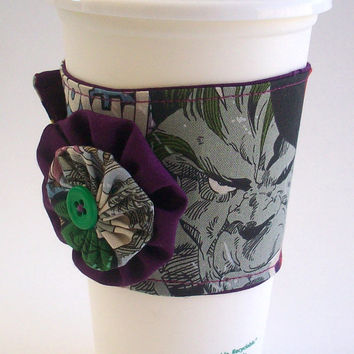 Marvel Comic Coffee Cup Cozy / The Avengers Drink Sleeve