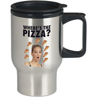 Jennifer Lawrence Where s the Pizza For Stainless Travel Mug *